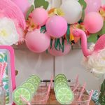 Cheap but Classy Flamingo Baby Shower Party Decoration Ideas all with Dollar Tree Items!
