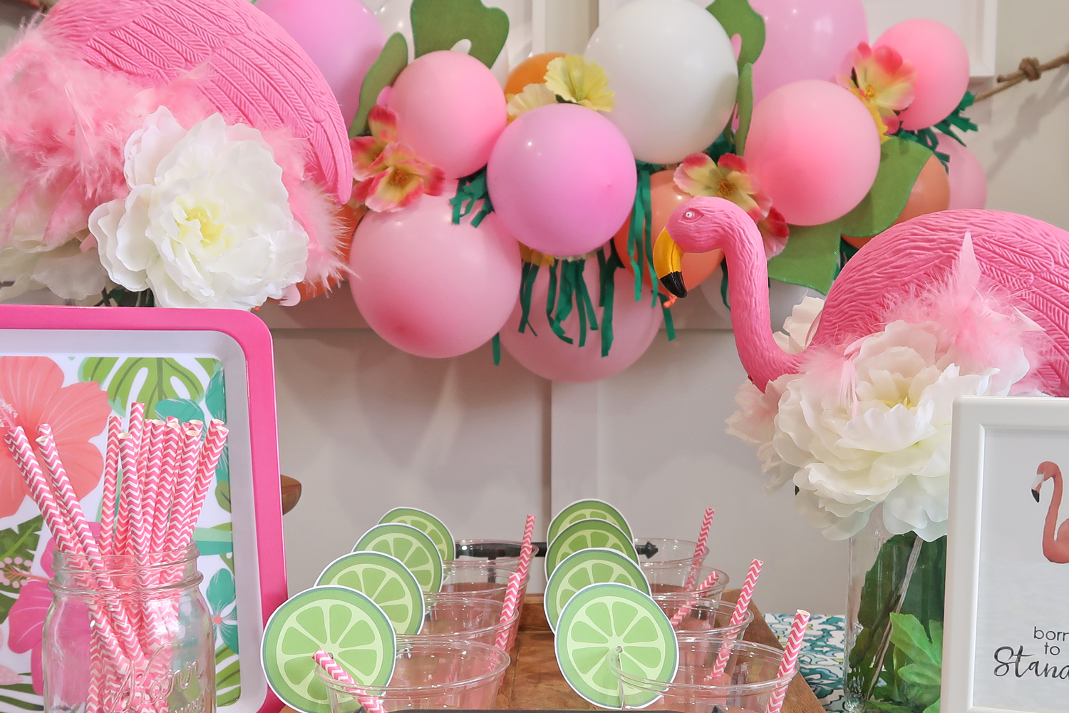 cheap but classy flamingo baby shower party decoration ideas all with dollar tree items