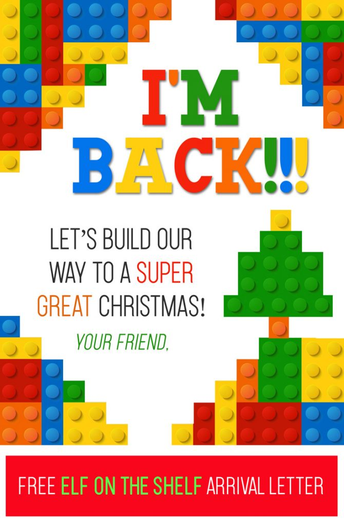 elf on the shelf free printable lego arrival letter i think we