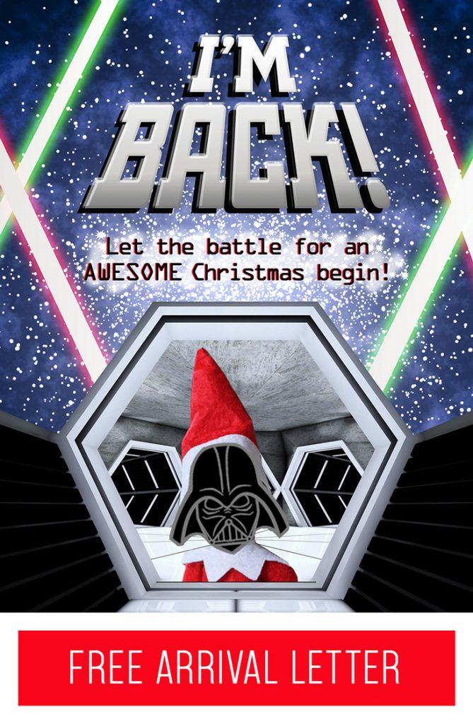 Free Printable Elf on the Shelf Arrival Letter: Star Wars Theme