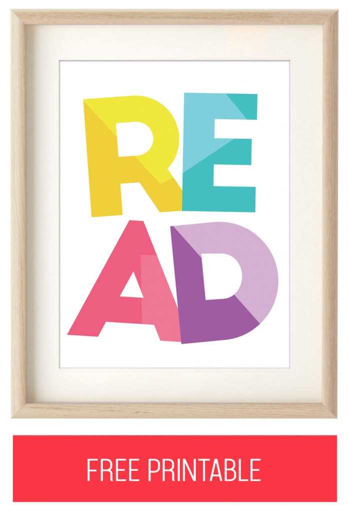 "Free ""READ"" Printable Artwork"
