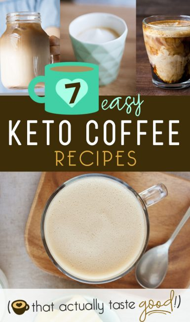 "Keto coffee is the best way to start the day by keeping your body in ""fat burning"" mode! These Low-carb & Sugar Free Keto coffee recipes are the BEST tasting ones out there (I've tried them ALL!!!), and are EASY, too! Keto coffee, Keto lattes and a Keto Caramel Macchiato that tastes like it is from Starbucks!! #keto #coffee #recipes #lowcarb #sugarfree #diet #breakfast #latte #caramel #macchiato #vanilla #easy"
