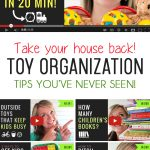 The BEST Tips for Organizing Kids Toys: These short videos are SO helpful!