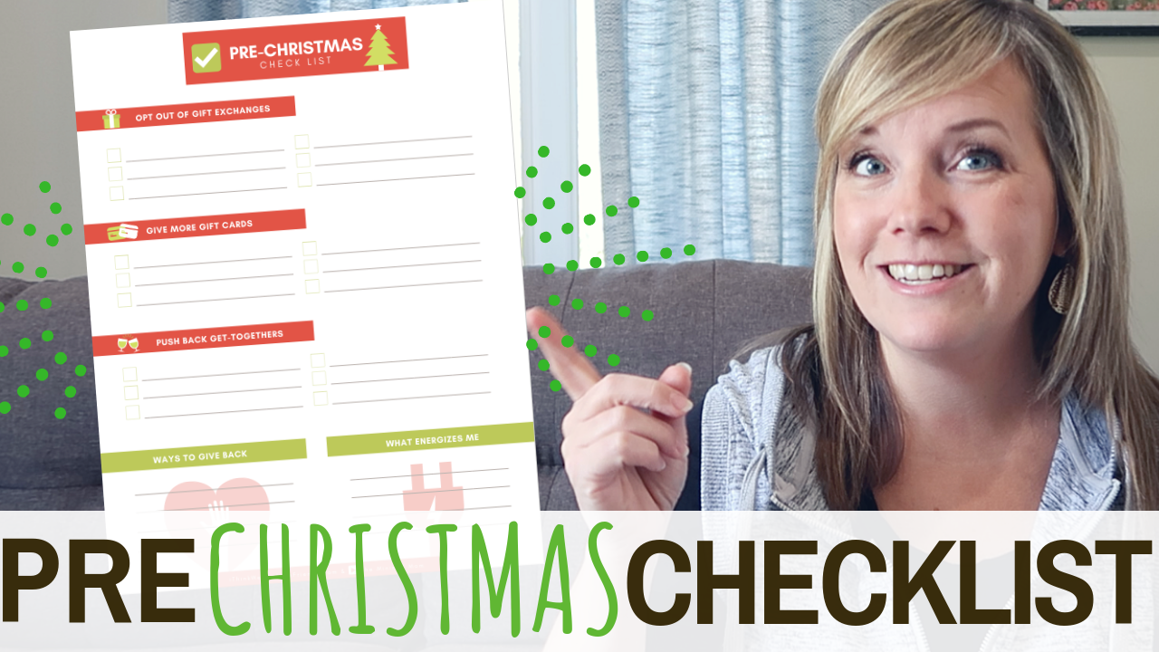 Save STRESS, TIME and MONEY this Christmas with just a little pre-planning! AND, do more of what you enjoy this holiday season!! Download the free Pre-Christmas Planning Checklist today! #free #christmas #printable #gift #list #budget #planning