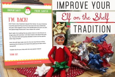Is life with your Elf on the Shelf getting a little stressful? Try out this new tradition! It is EASY + MEANINGFUL + KIDS LOVE IT!!!