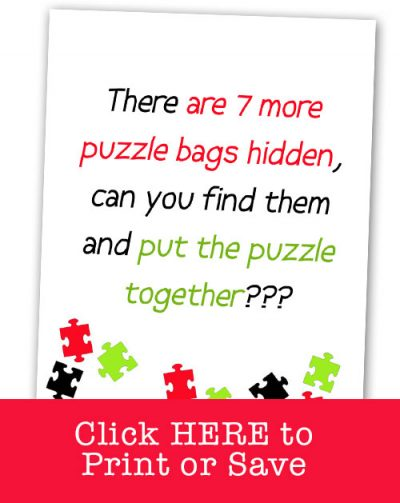 New Elf on the Shelf ideas that are EASY and FUNNY! Your kids will LOVE this PUZZLE HUNT idea!!