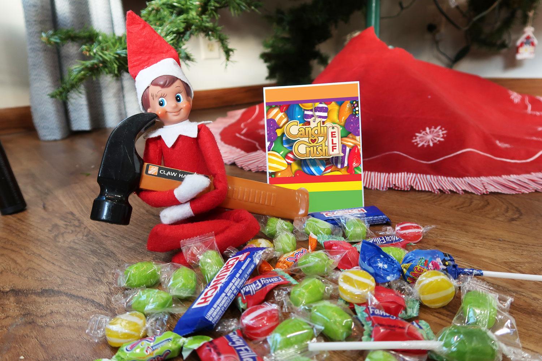 55 New Elf On The Shelf Ideas 15 Candy Crush