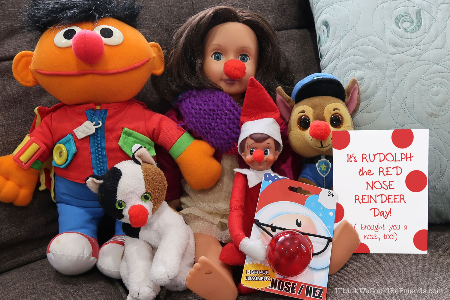 55 New Elf On The Shelf Ideas 37 Rudolph Noses