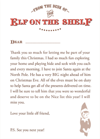 graphic regarding Printable Elf on the Shelf Goodbye Letter titled 20+ Elf upon the Shelf Departure Letters a lot of Contemporary guidelines for