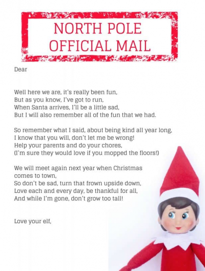 photo relating to Printable Elf on the Shelf Goodbye Letter called 20+ Elf upon the Shelf Departure Letters a lot of Fresh new Plans for