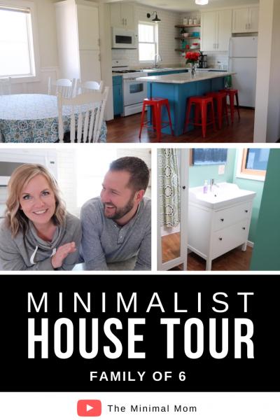 minimalist house tour, family of 6