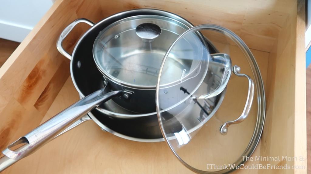 minimalist pots and pans