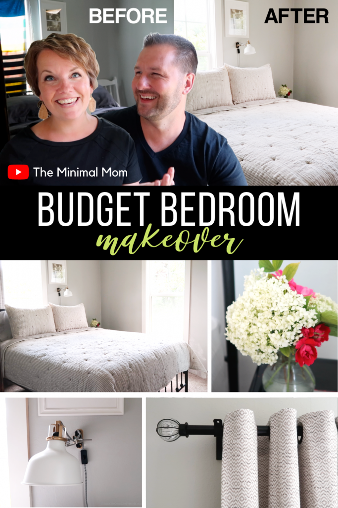 Budget Bedroom Makeover Before and After
