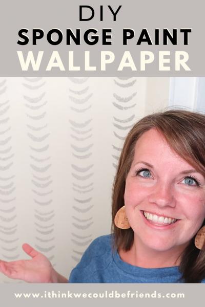 DIY sponge paint wallpaper