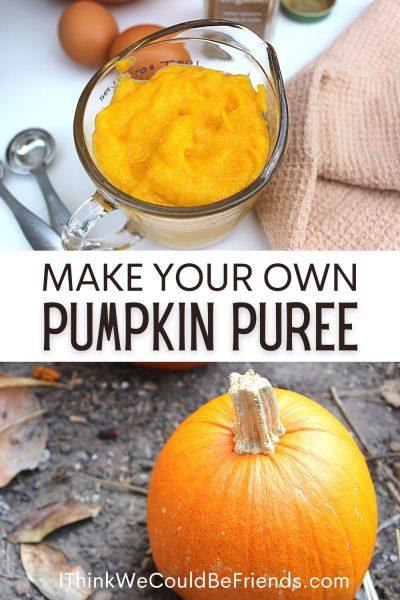 make your own pumpkin puree
