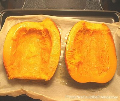 pumpkin fresh out of oven